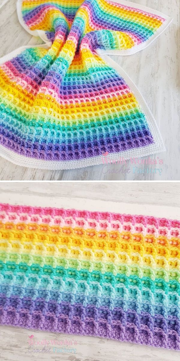 Waffle Stitch Blanket by Melanie Charles / Woolly Wonka's Crochet Factory