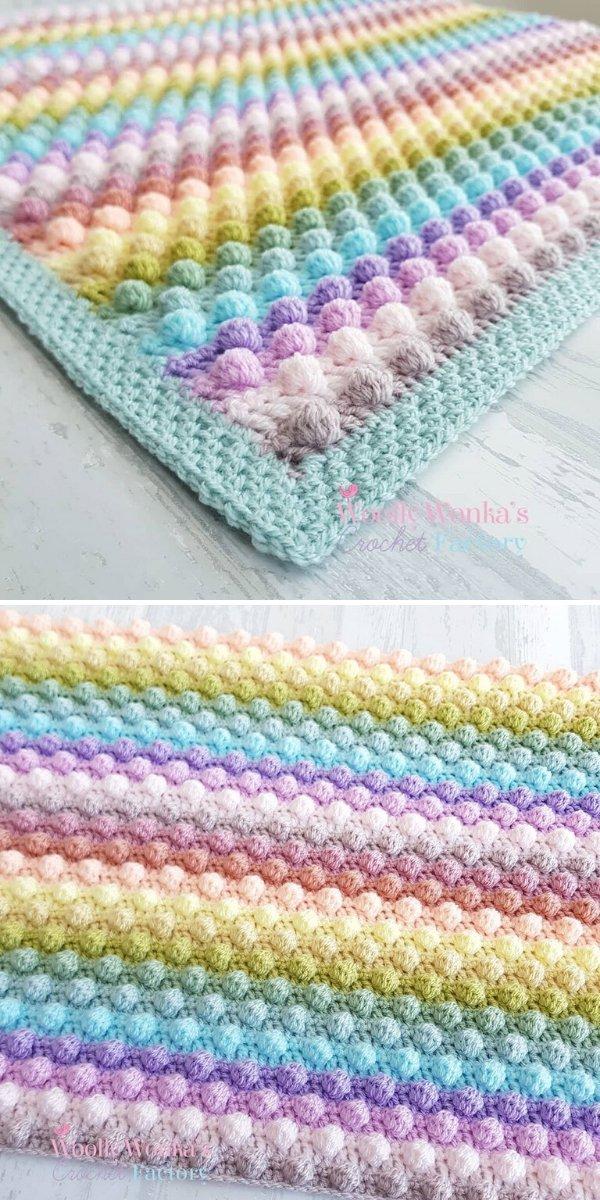 Bobble Blanket by Wooly Wonka's Crochet Factory