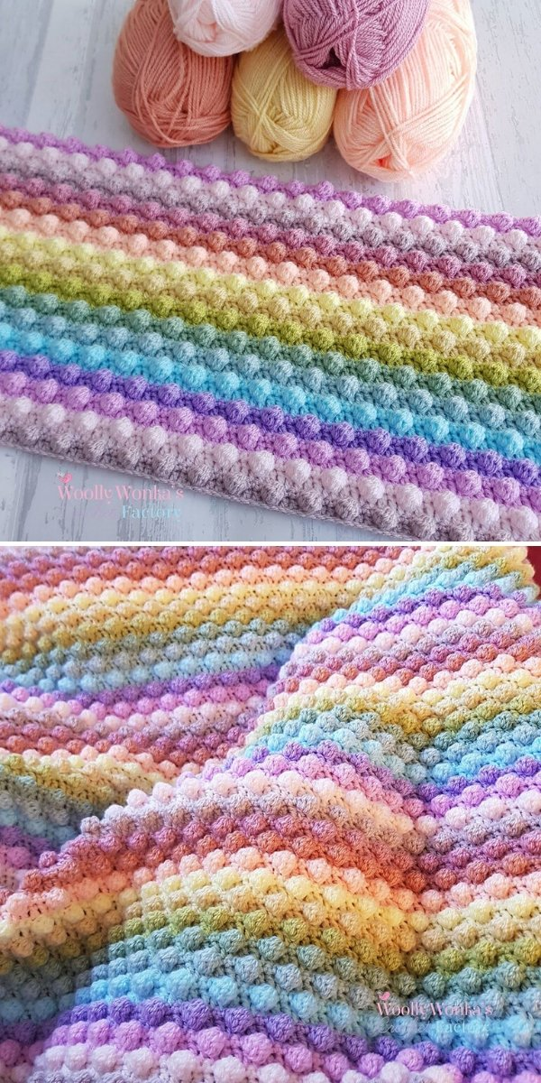 Bobble Blanket by Wooly Wonka's Crochet Factory