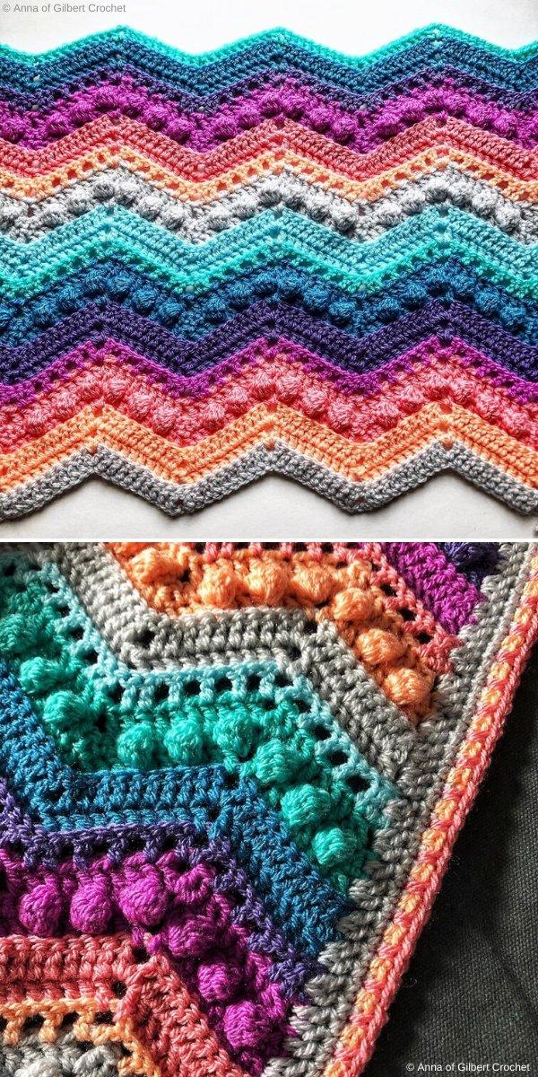 Chevron Party Blanket by Gilbert Crochet