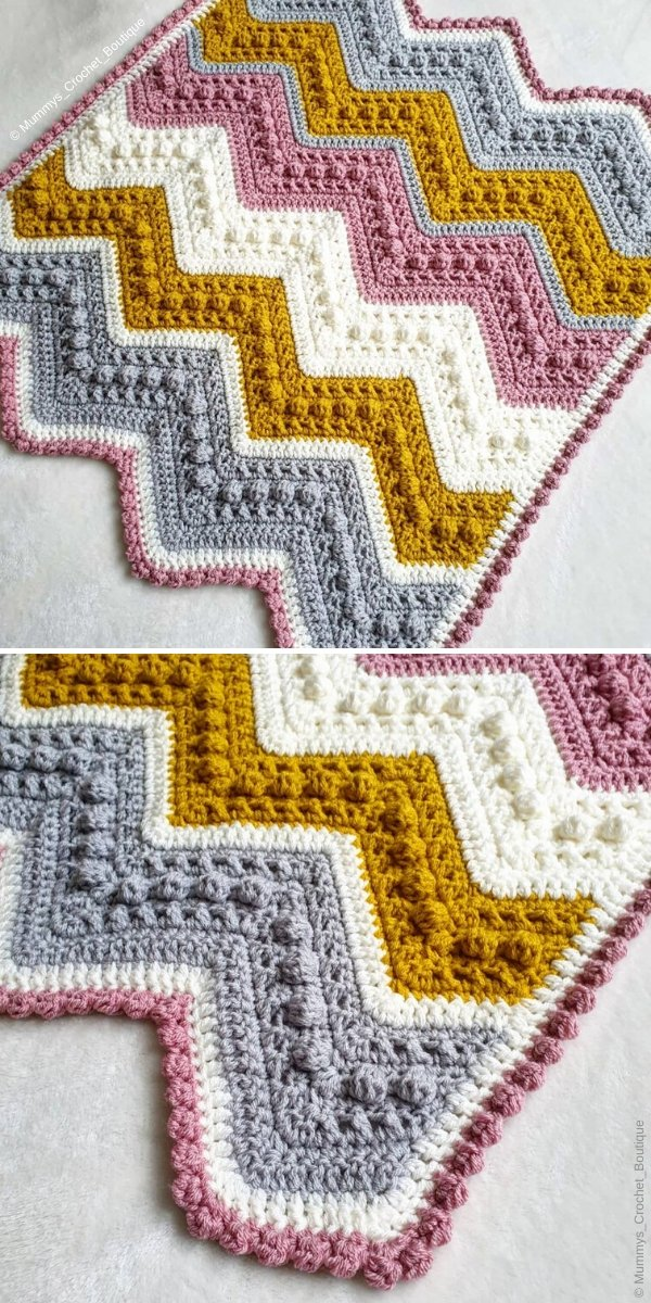 Hugs And Kisses Blanket by Mummys_Crochet_Boutique