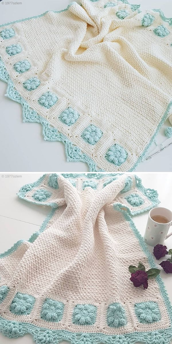 Moss Stitch Blanket by 1977ozlem