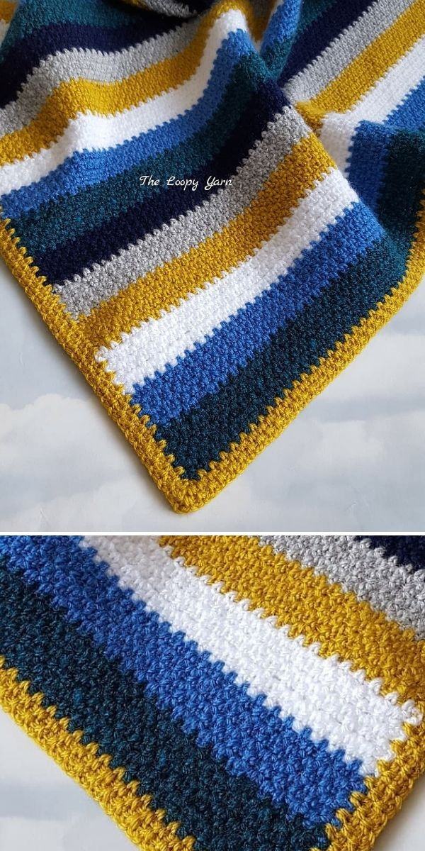 Moss Stitch Blanket by The Loopy Yarn