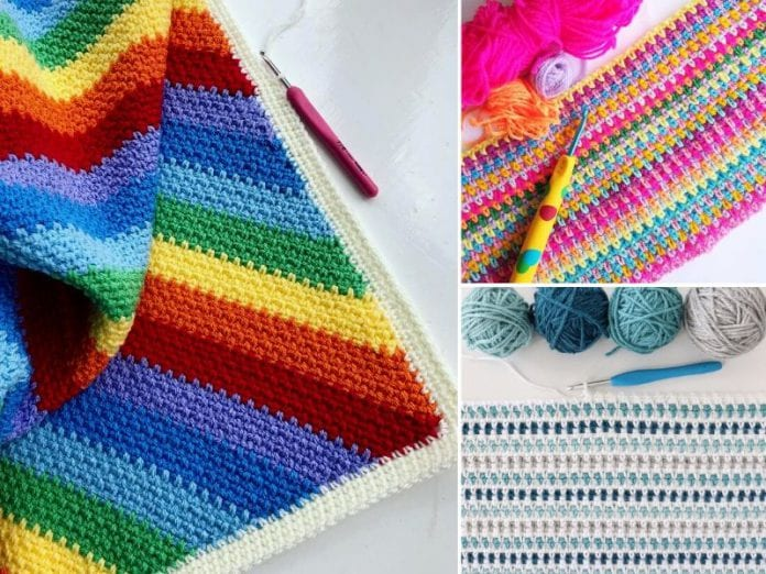 Moss Stitch aka Linen Stitch Crochet Ideas