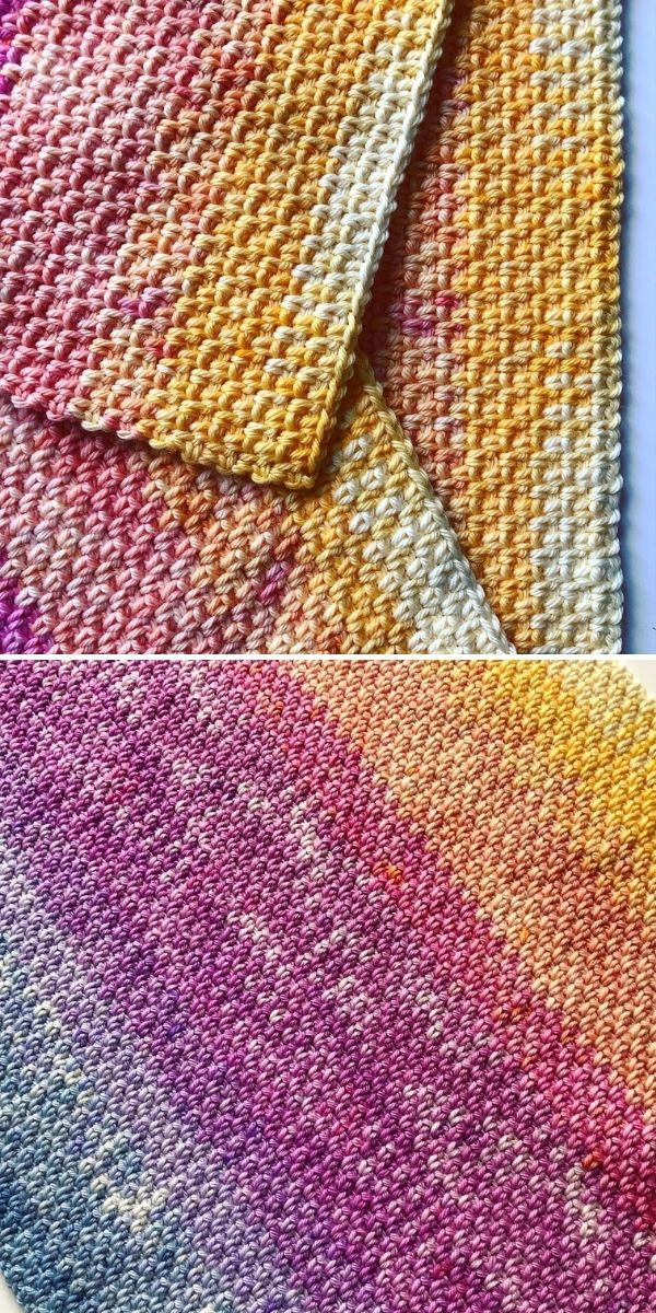 colorful ombre crochet work