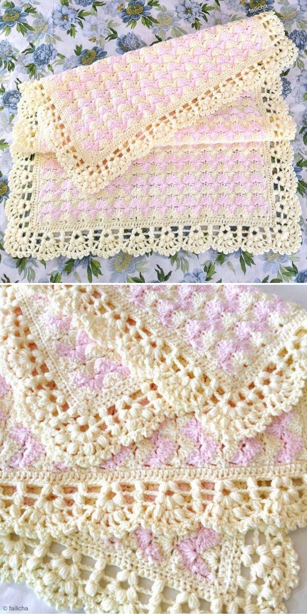 Catherine's Wave Stitch Blanket by Failicha