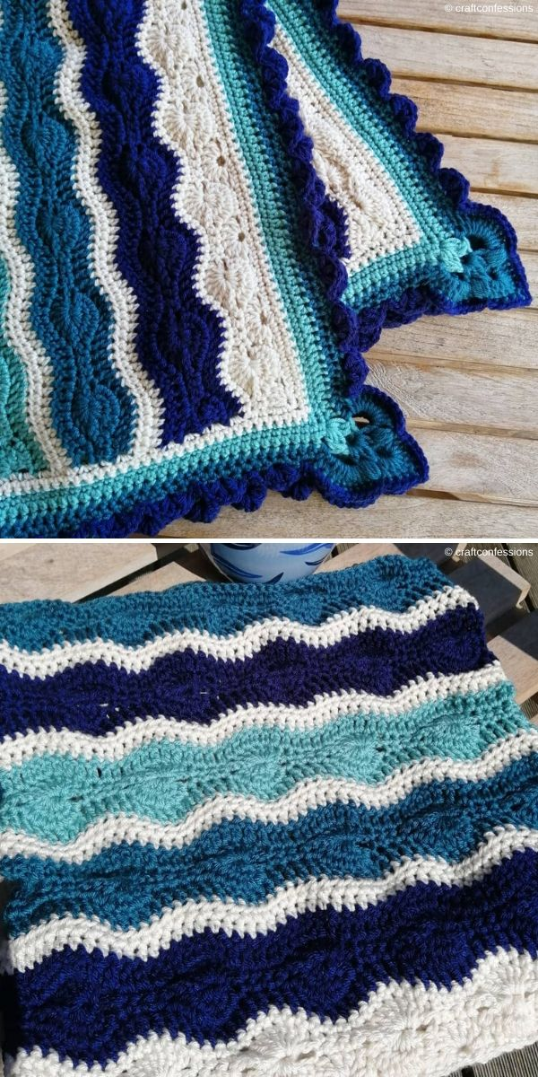 Crochet Catherine's Wheel Waves Blanketby Craft Confessions