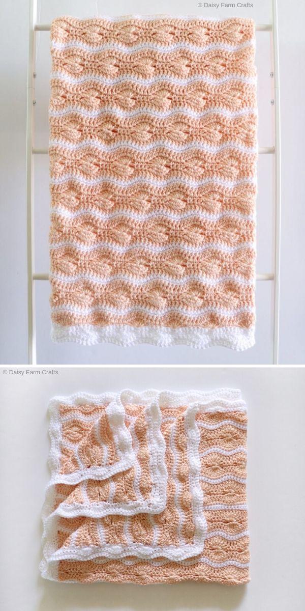 Crochet Catherine's Wheel Waves Blanket by Daisy Farm Crafts Free Crochet Pattern
