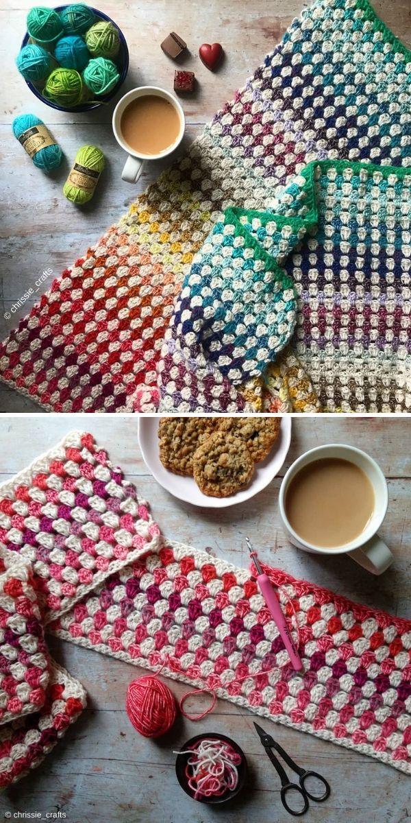 Granny Stripe Blanket by Chrissie Crafts