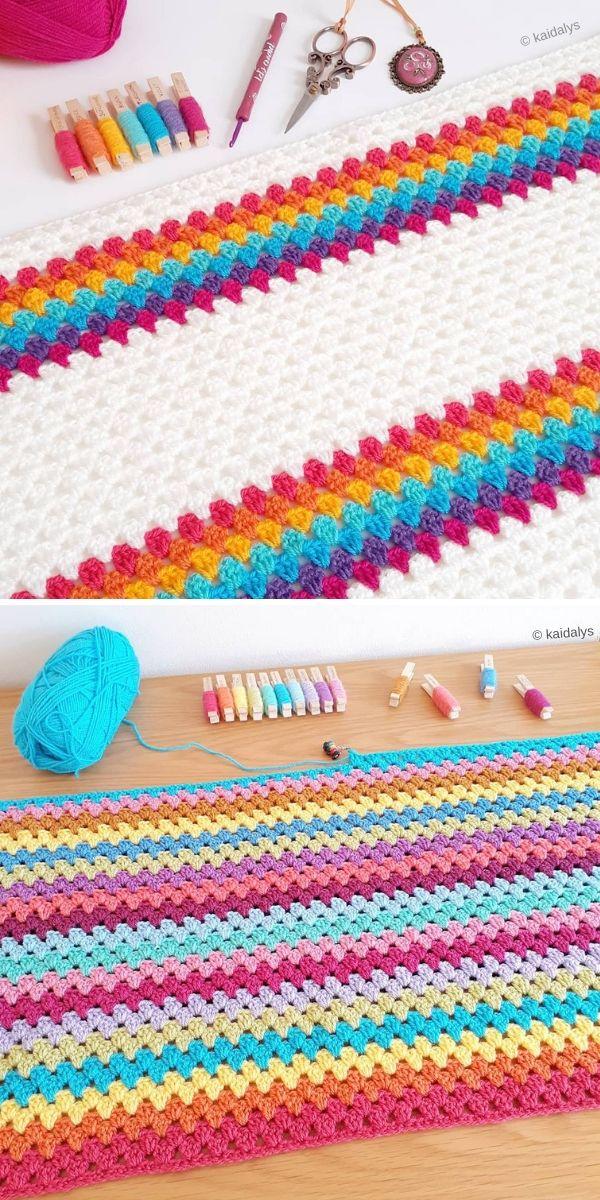 Granny Stripe Blanket by Kaidalys