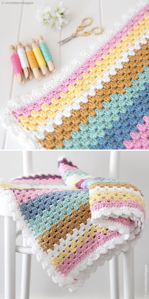 Granny Stripe Blanket by RedAgape