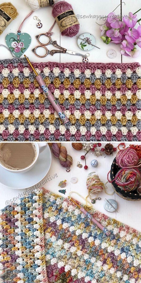 Granny Stripe Blanketby SewHappyCreative