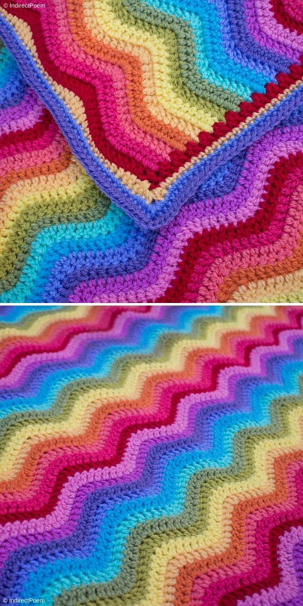Neat Ripple Blanket by IndirectPoem