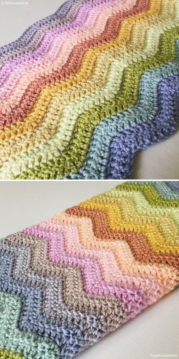 Neat Ripple Blanket by bytheseashore