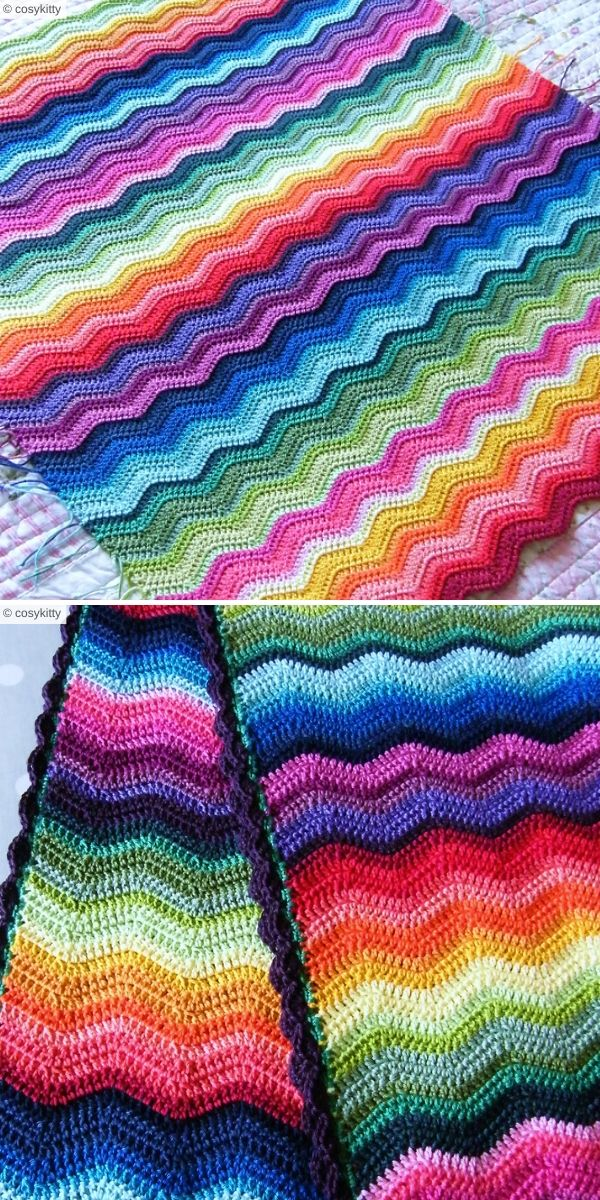 Neat Ripple Blanket by cosykitty