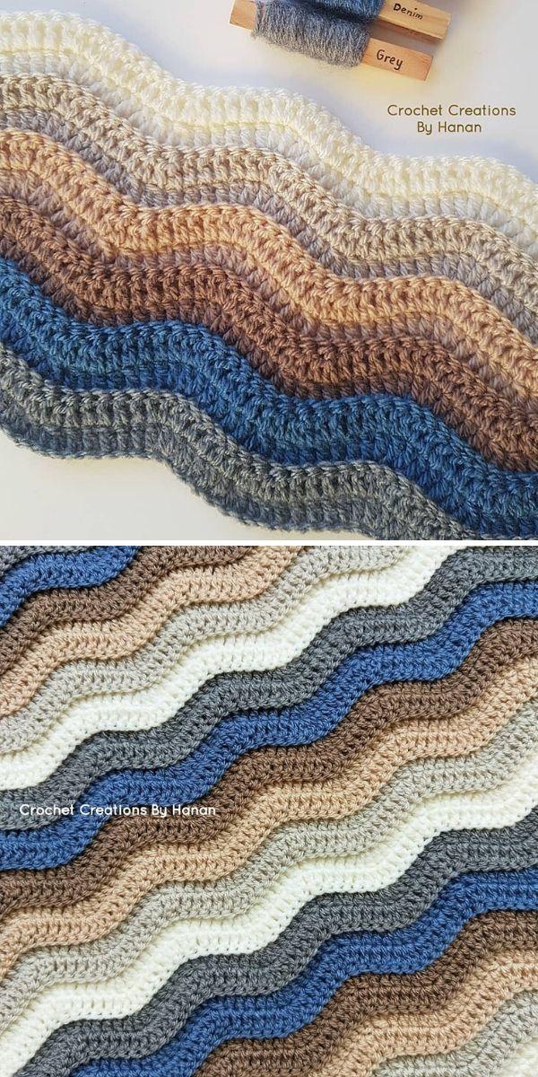 Ripple Stitch Blanket by Crochet Creations by Hanan