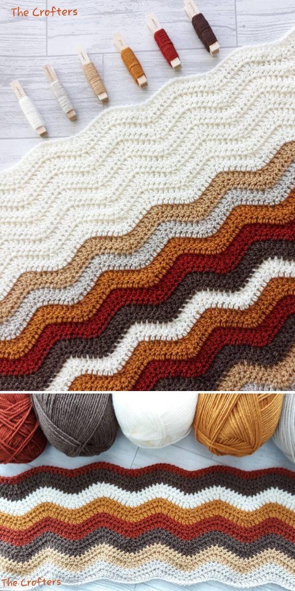Ripple Stitch Blanket by Hazel of The Crofters