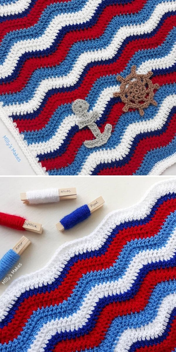 Ripple Stitch Blanket by Milly's Makes