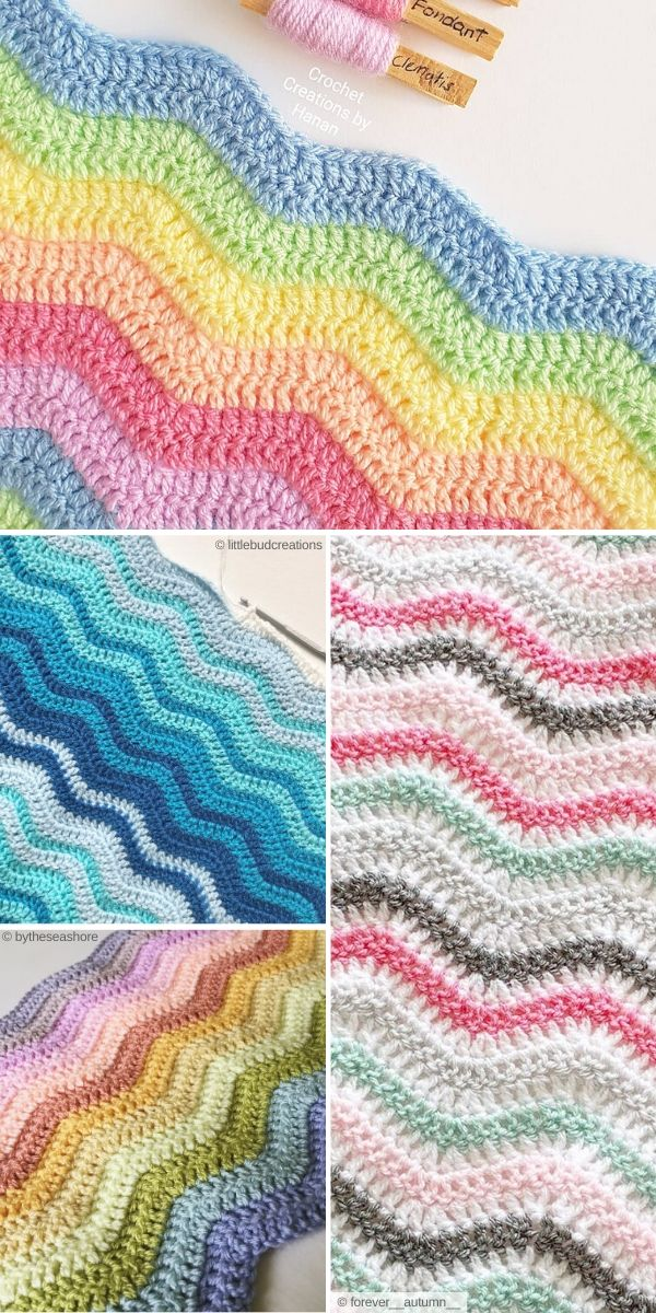 Ripple Stitch Crochet Ideas Free Patterns and Resources