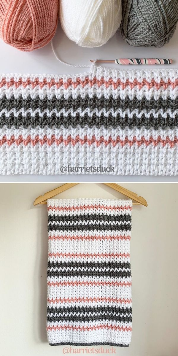 V-Stitch Blanket by Harriet's Duck