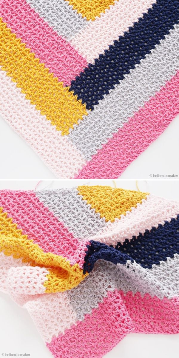 Color Block Shawl by Hellomissmaker