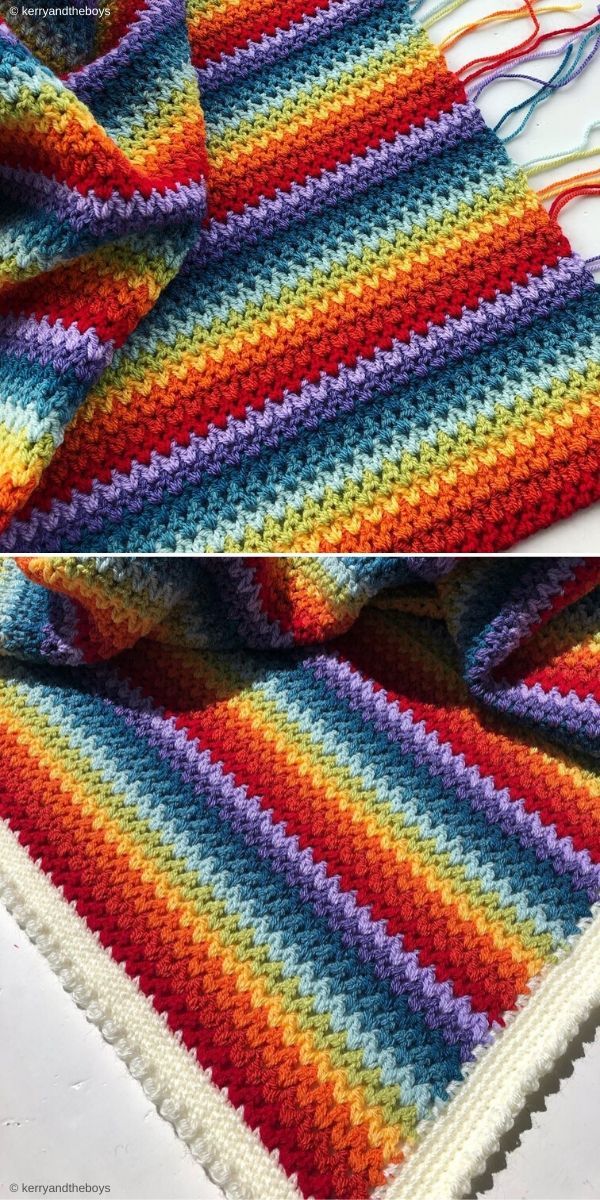 V-Stitch Blanket by Kerryandtheboys