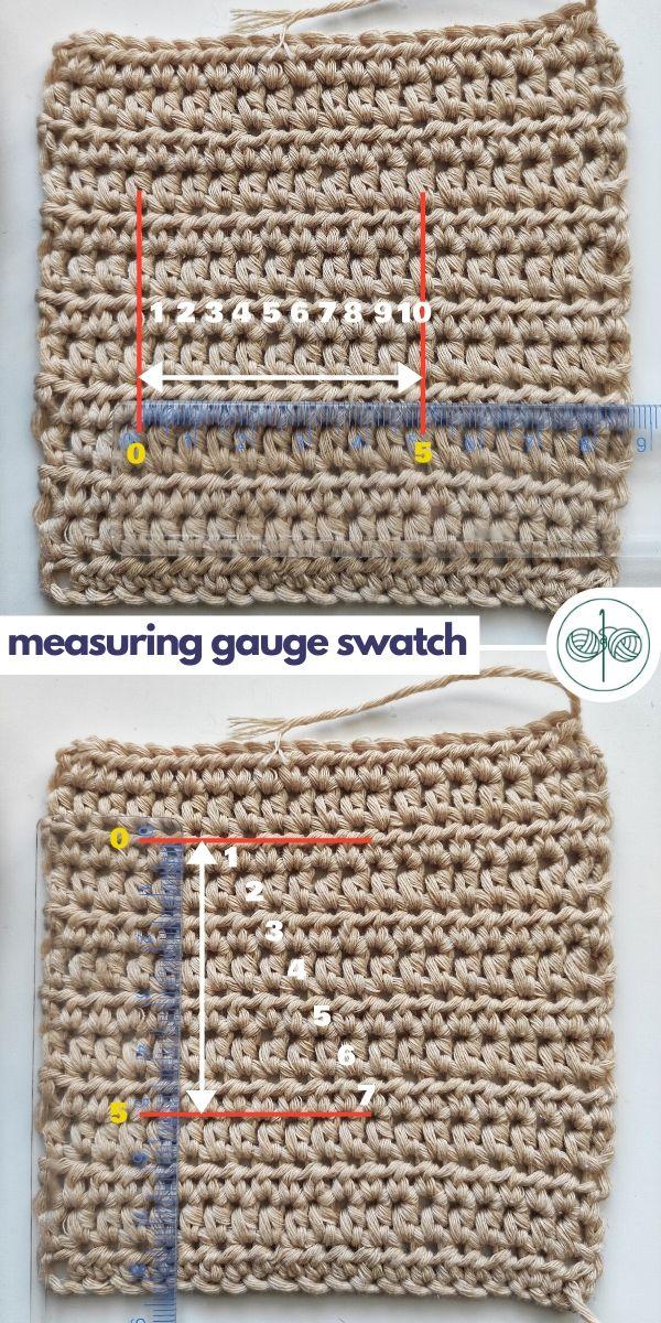 Measuring Gauge Swatch