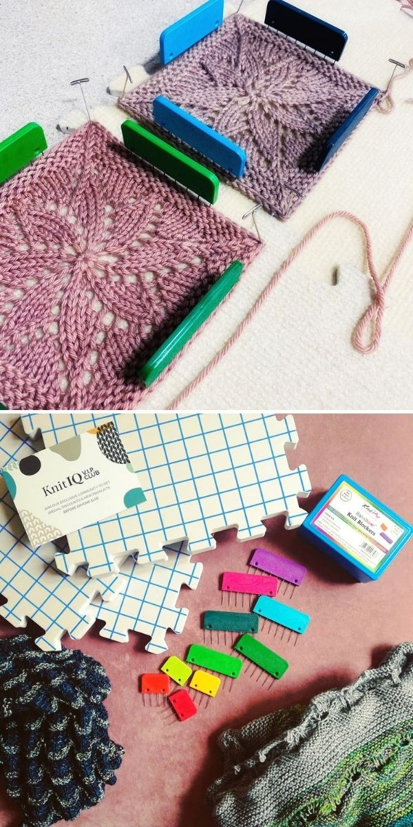 grid mat and knit blockers