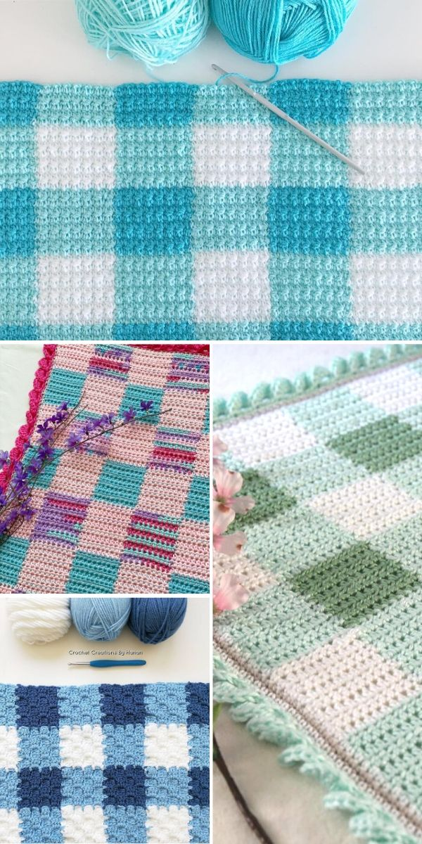 colorful gingham blankets