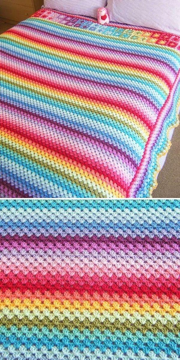 rainbow granny blanket