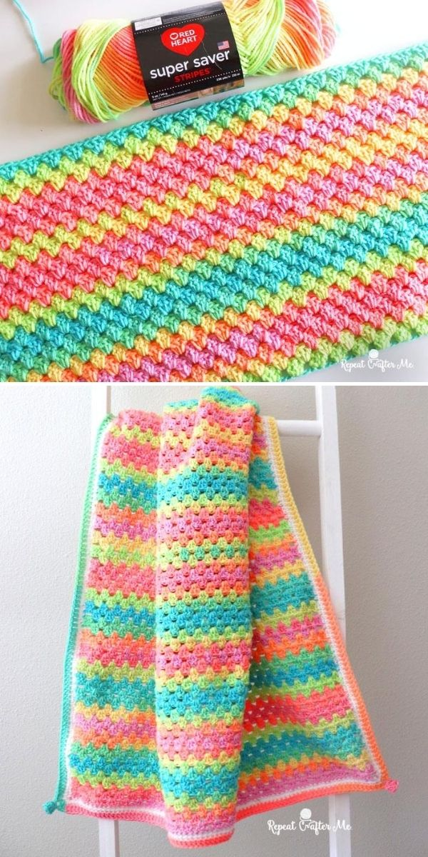 candy colors granny blanket