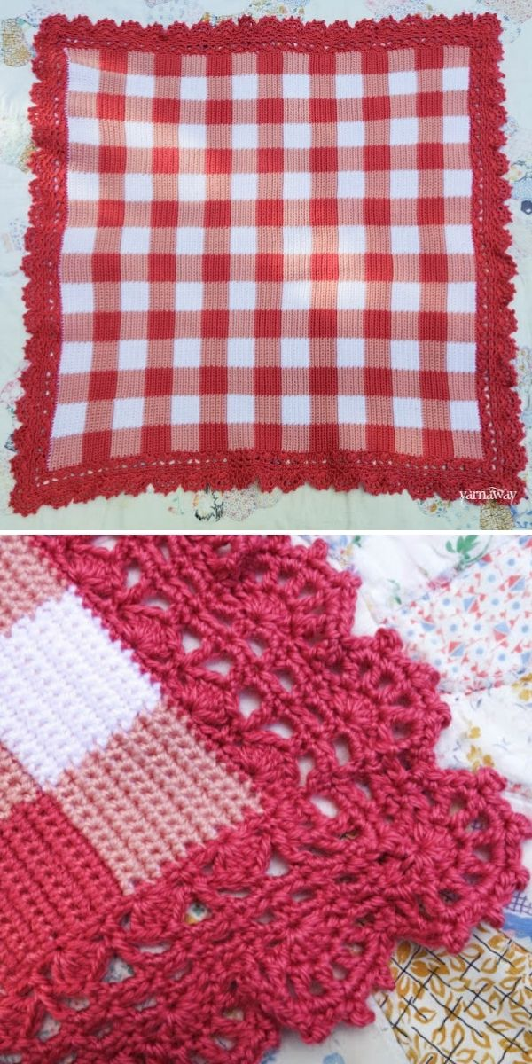 red and white plaid baby blanket