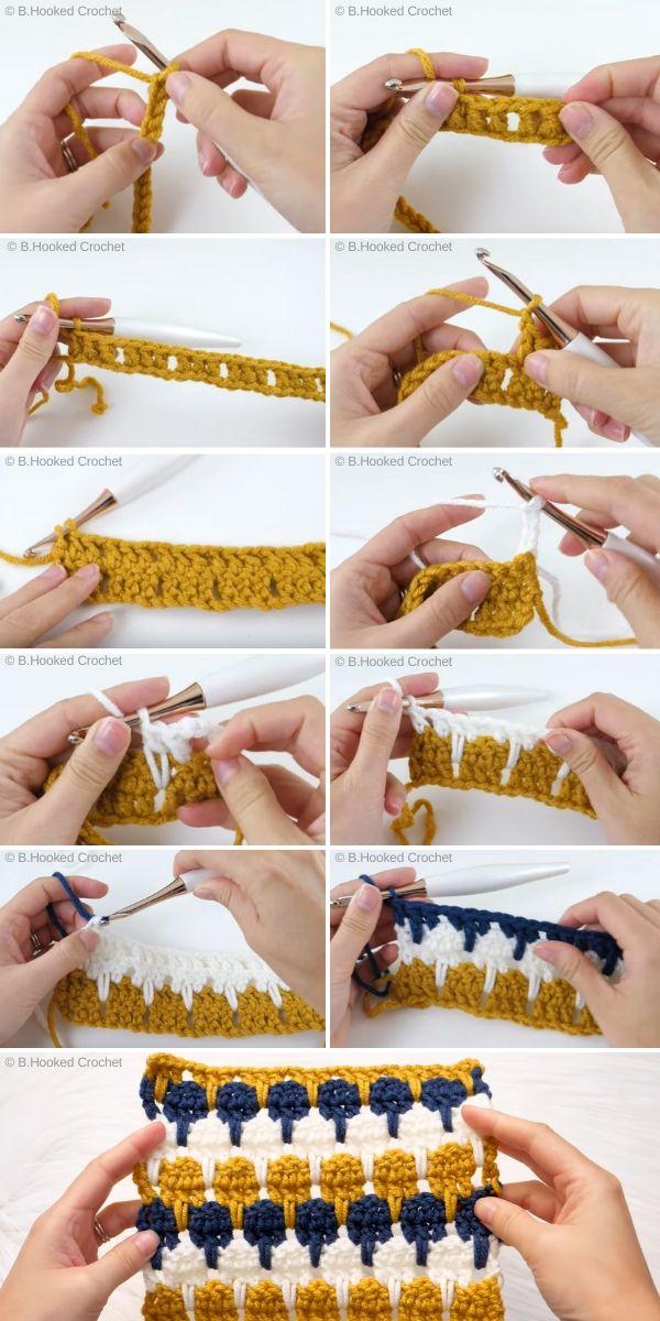 Larksfoot Stitch Tutorial by B.Hooked Crochet