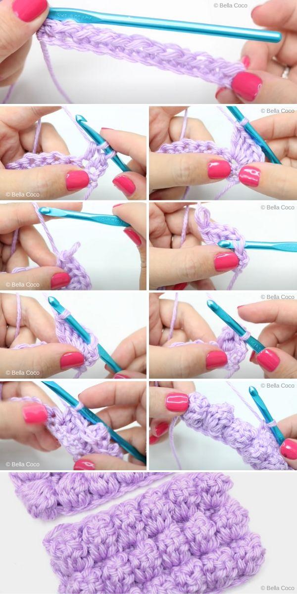 how to crochet popcorn stitch
