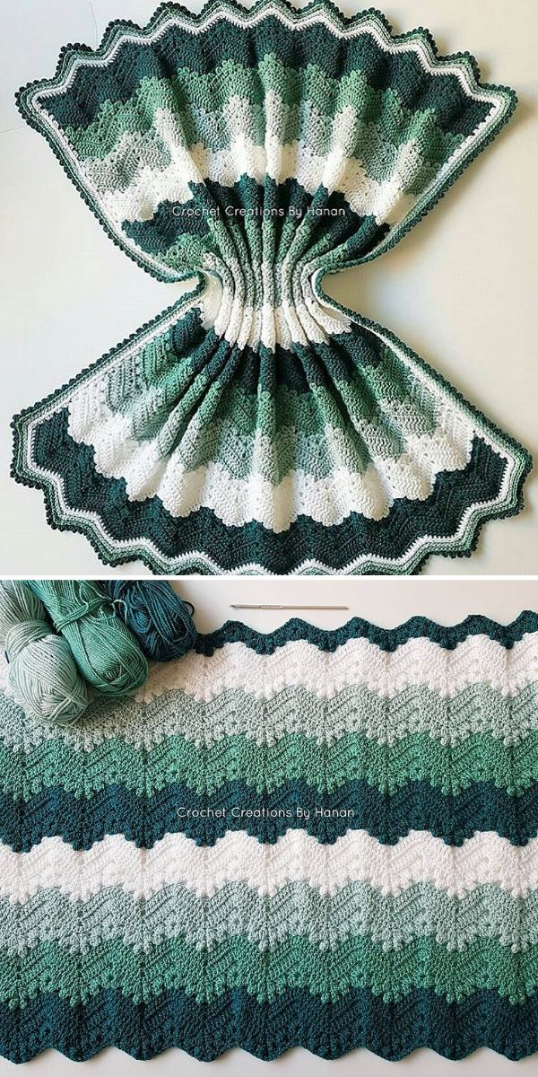 green and white 6 Day Kid Blanket