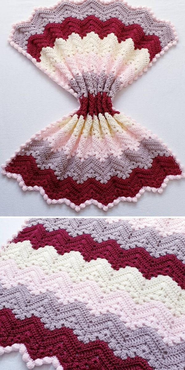 burgundy and pink 6-Day Kid Blanket