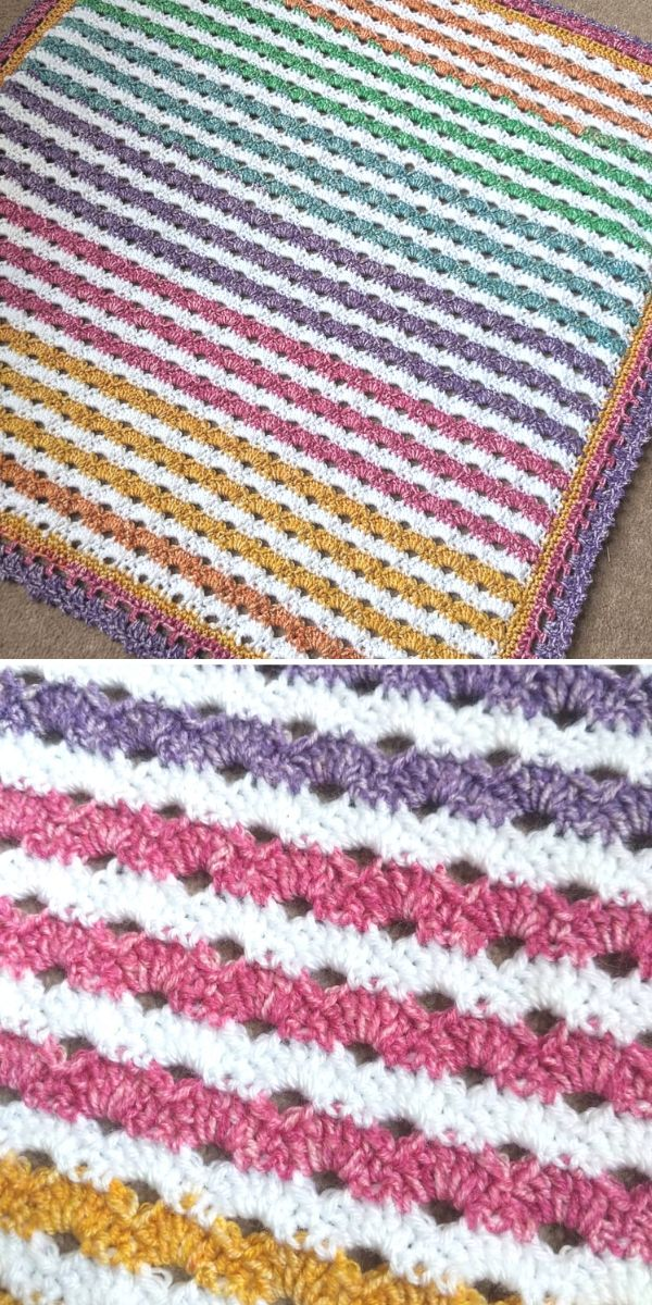 Rainbow Arcade Stitch Blanket