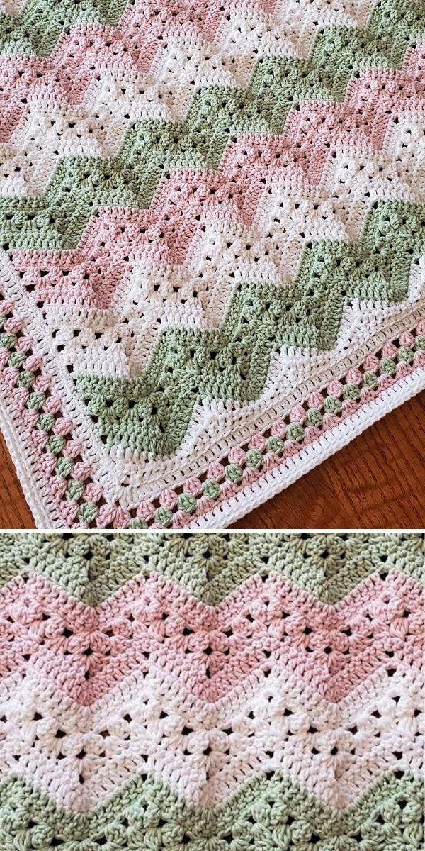 green and pink 6-Day Kid Blanket
