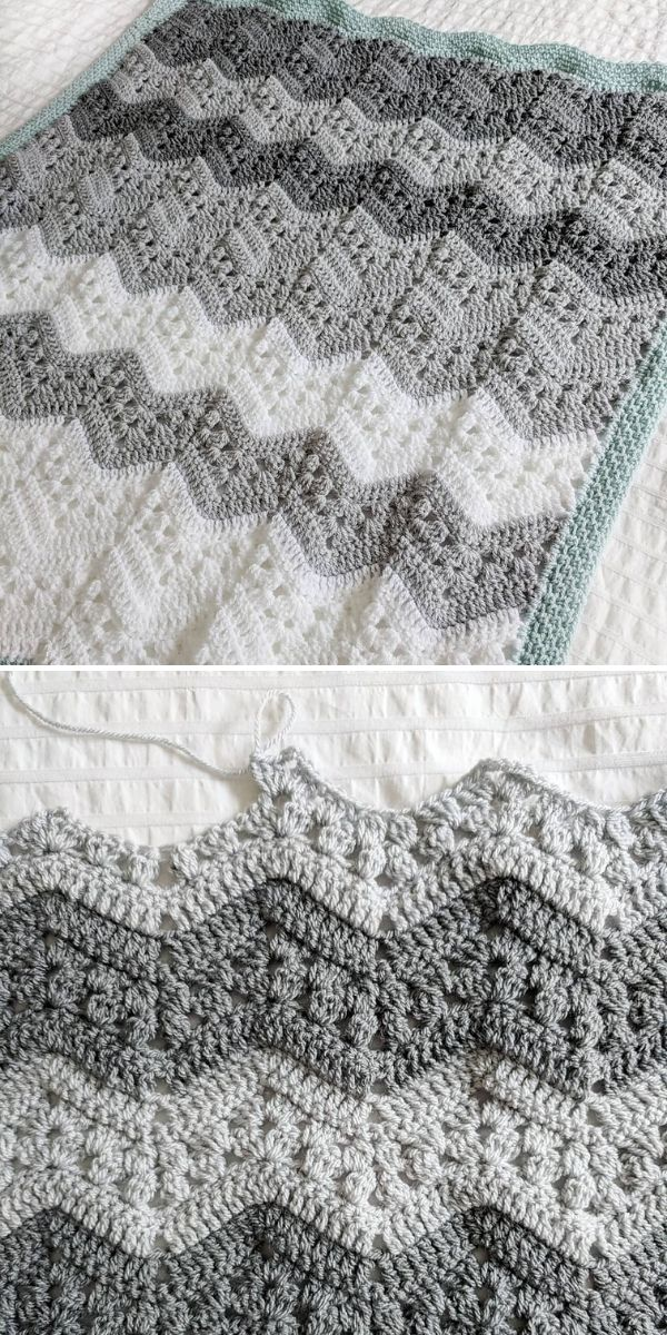 grey and white Six Day Kid Blanket