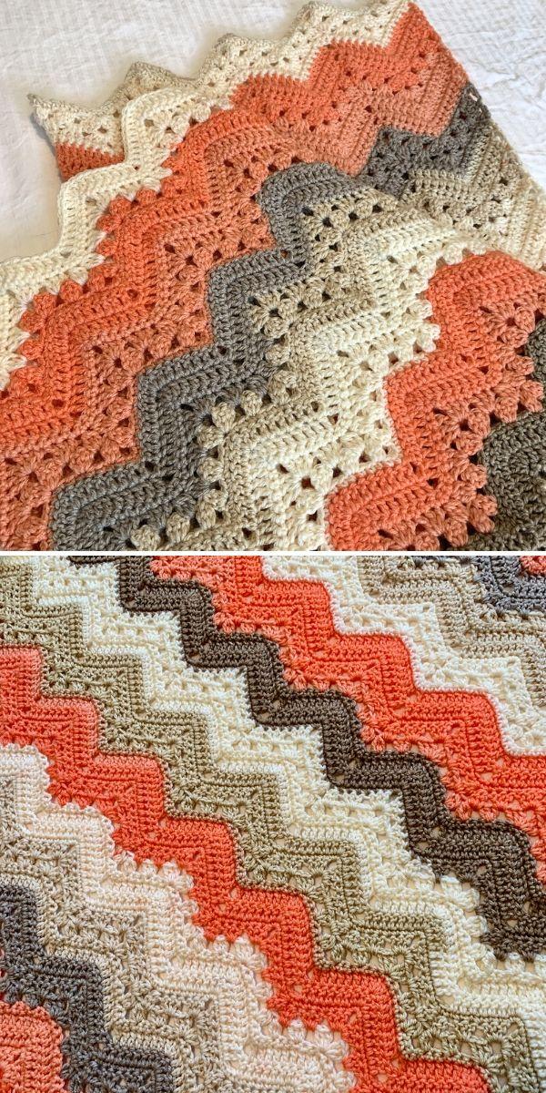 orange and beige 6-Day Kid Blanket