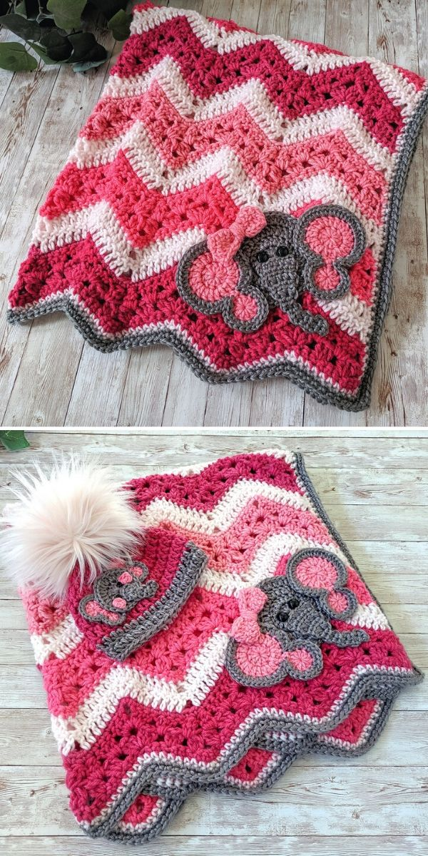 pink and white 6-Day Kid Blanket