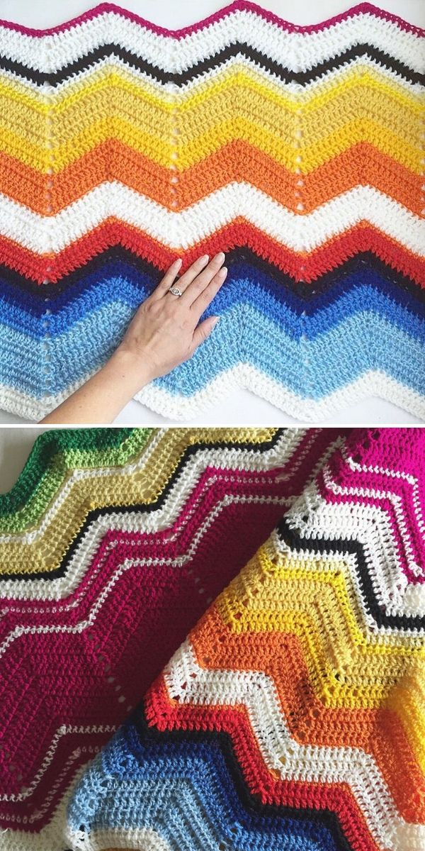 colorful chevron blankets