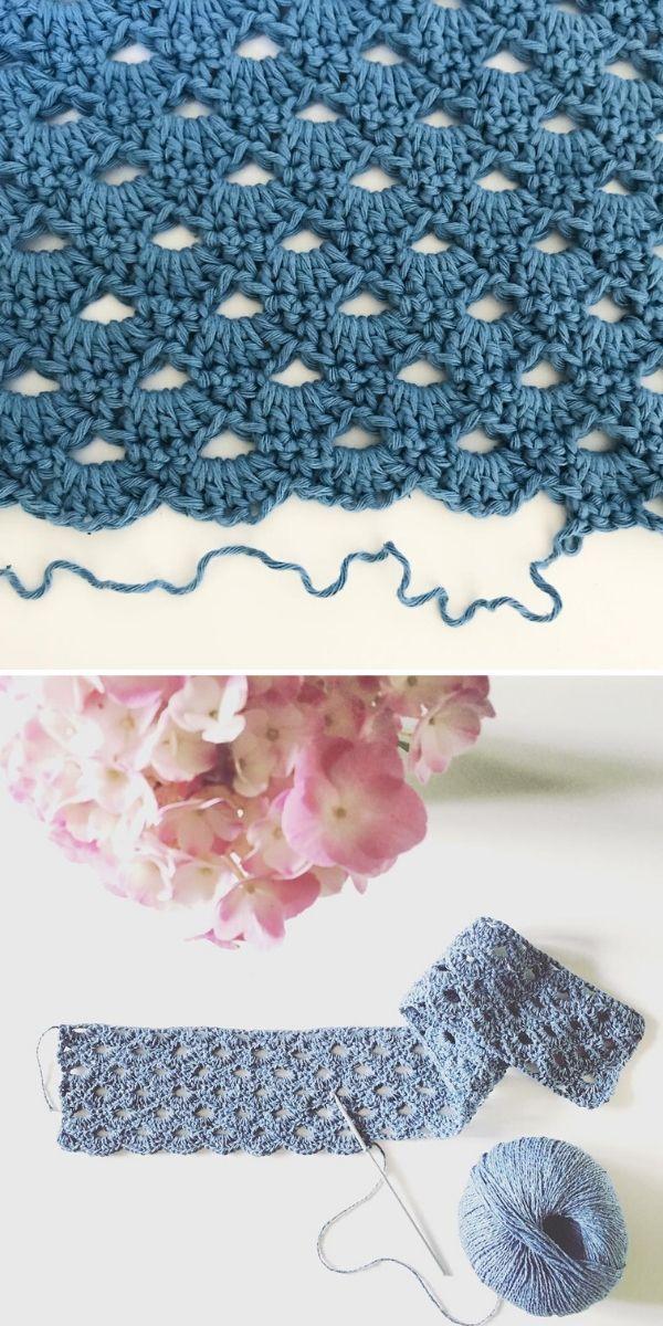 Blue Arcade Stitch