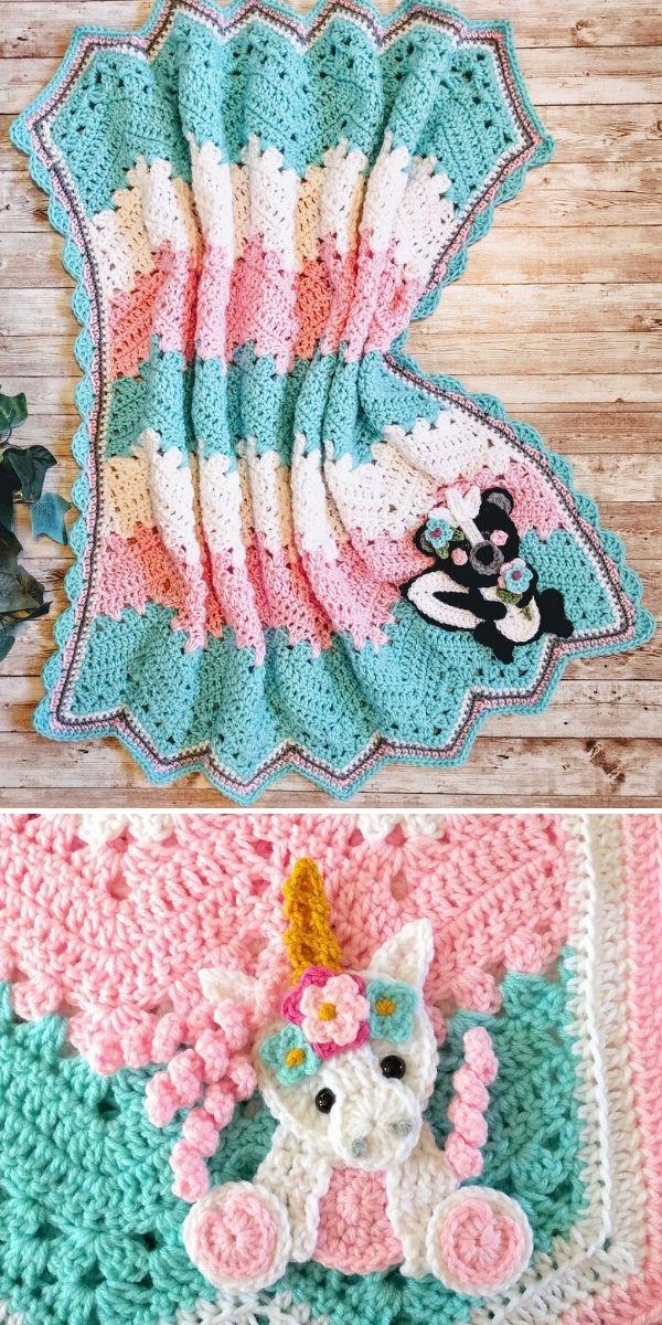 colorful Skunk 6-Day Kid Blanket