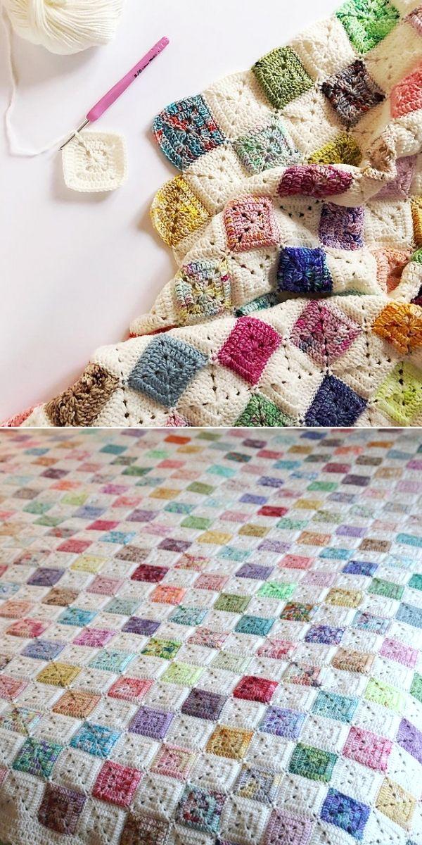 Colorful Battenberg Blanket