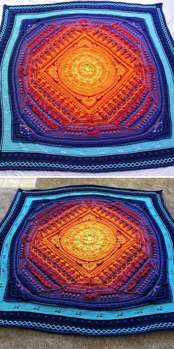 Orange and Blue Sophie's Universe Blanket
