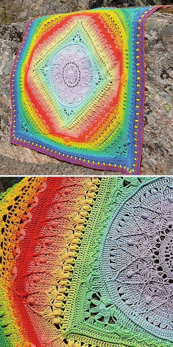 Rainbow Sophie's Universe Blanket