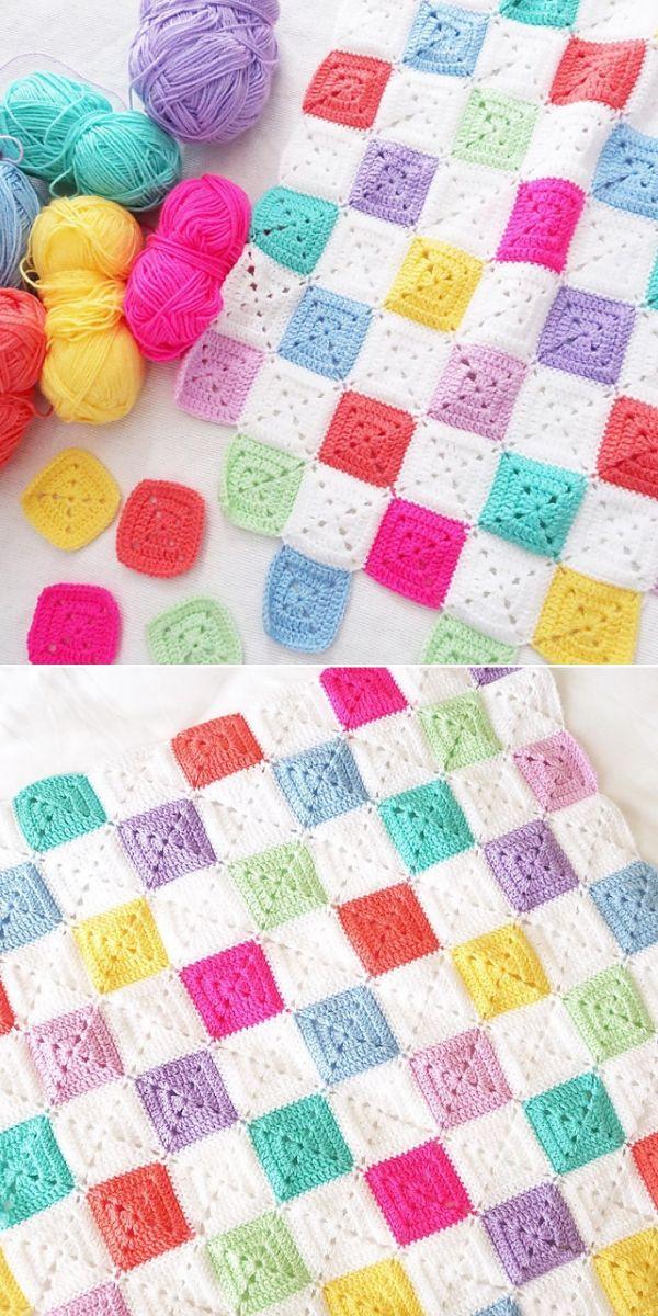 Multicolor Battenberg Blanket