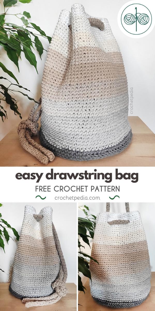 sand drawstring bag