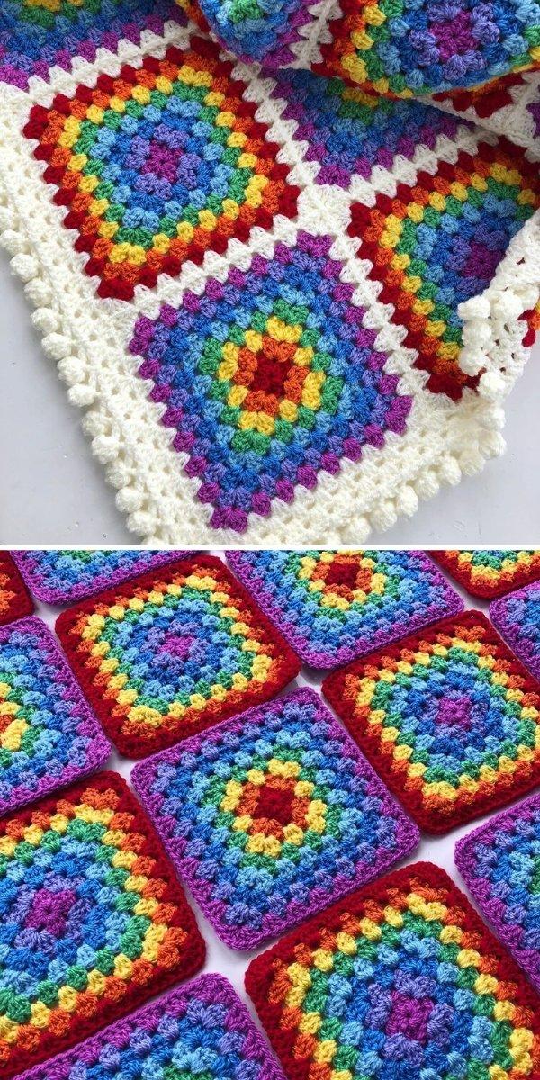 Rainbow Granny Squares